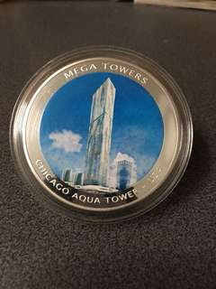 Silver coin mega tower year 2010