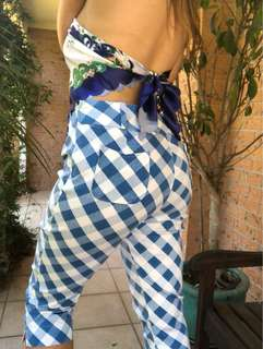Vintage Blue Checkered Pants