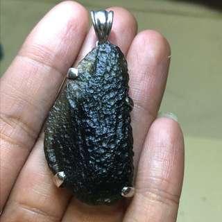 Moldavite meteorite pendant 捷克陨石