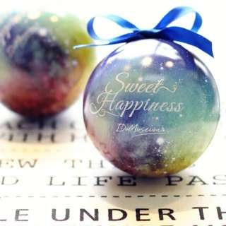 Galaxy ball wedding favors
