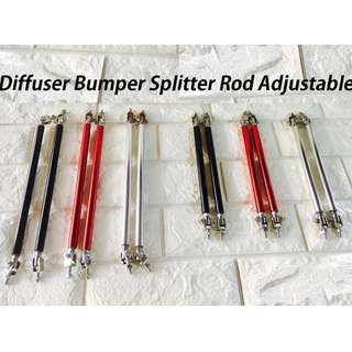 Car Front Diffuser Bumper Splitter Rod Adjustable