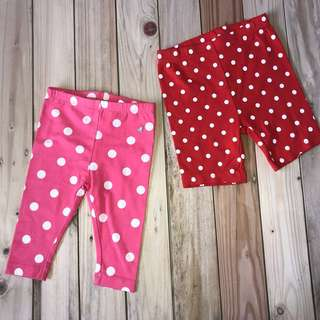 Brand new polka leggings and shorts