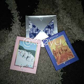 Seventeen Boys Be + Shining Diamond Album w/o pc