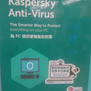 卡巴斯基防毒軟件Anti-Virus(-用戶三年版)