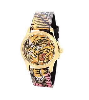 Gucci bangle tiger watch