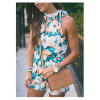 PRICE DROP! Floral Hollow Out Sleeveless Romper