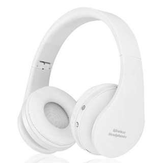 White Colour Wireless Bluetooth Foldable Stereo Headphone (Condition like New)