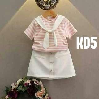 Korean top and skirts