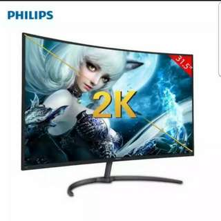 "PHILIPS 32"" 2K LED Curved Monitor"
