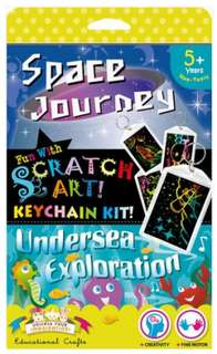Scratch Art Keychain Kit - Space & Undersea