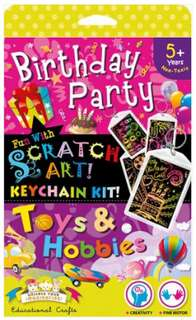 Scratch Art Keychain Kit - Birthday and Toys