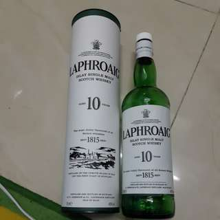 Laphroaig 10year empty bottom