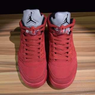 AJ5 red suede Air Jordan 紅色麂皮公牛41-46