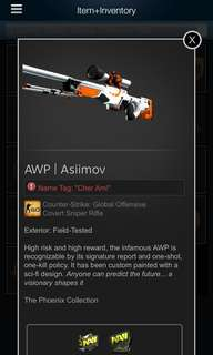 AWP Assimov (With Na'Vi Stickers)