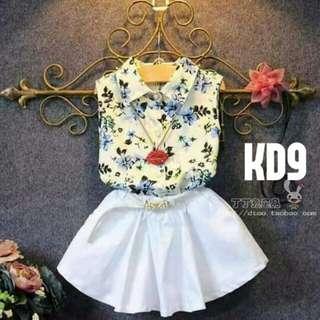 Korean top and skirt