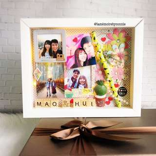 Personalised 3D Photo Frame (Cactus Love)