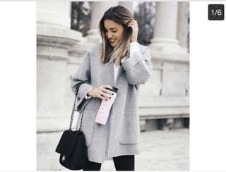 Zara grey wool coat