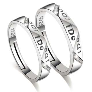 Pure 925 Couple Ring + Cert