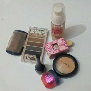 Take all slightly used makeups, free sf