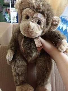 Jimby plush brown monkey