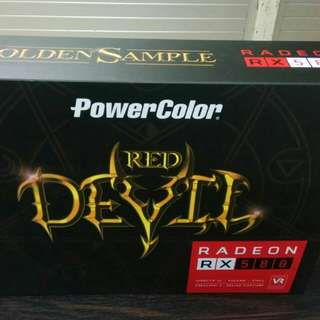 8 x RX580 8GB powercolor red devil Oc / golden sample mining rig 250-260 mhs