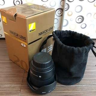 Nikon Nikkor 20mm f1.8 AF-S lens