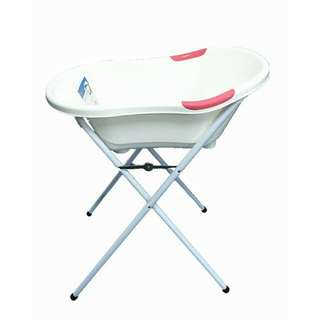 Puku bath tub with stand - large, pink (brand new)