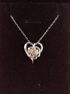 ROSELLE Jewelry 出品舞動閃鑽💎🌹玫瑰花頸鏈