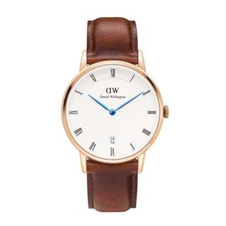 DW Daniel Wellington 34mm Dapper st Maves brown leather