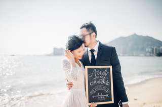 Calligraphy on Chalkboard Sign Pre-wedding Props