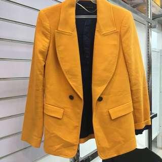 Zara Mustard Yellow Blazer Coat
