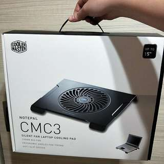"BRAND NEW!! SILENT FAN LAPTOP COOLING PAD BY COOLER MASTER!! ANTI-SLIP DESIGN FOR LAPTOP UP TO 15""!! SUITABLE FOR GAMERS/ OFFICE PERSONNELS/STUDENTS RUSHING PROJECTS & ASSIGNMENTS, BURNING MIDNIGHT OIL!!! WITH THIS, UR LAPTOP WILL LAST LONGER!! ONLY 1!!!"