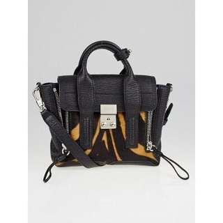 3.1 Phillip Lim Tiger Print Calf Hair Mini Pashli Satchel Bag