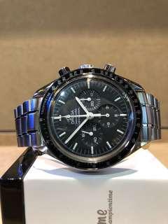 "Authentic Omega Speedmaster ""Moon Watch"" 3570.50 Black Dial Winding Steel Casing Bracelet"