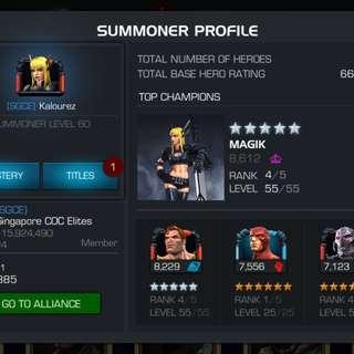 Marvel Contest of Champions account (mcoc)