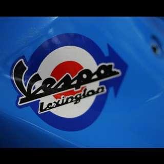 Vespa Sticker waterproof reflective decal motorbike helmet piaggio lexington