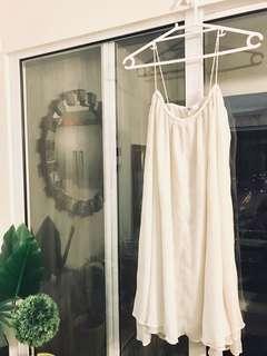 Repriced-Mango white flowy dress
