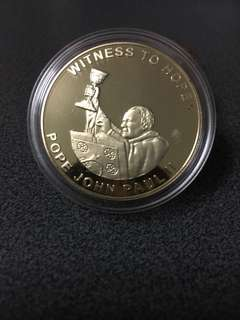 Silver coin witness to hope year 2003