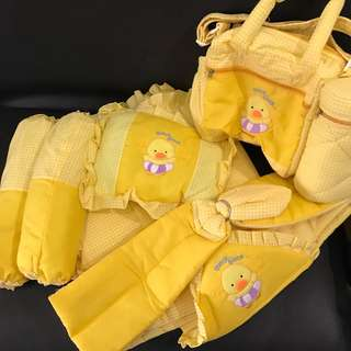Yellow Bedding Set + diaper bag