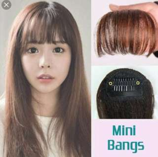 Korean ulzzang see through bangs