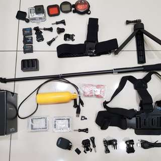 GoPro Hero 4 Silver scuba diving bundle set
