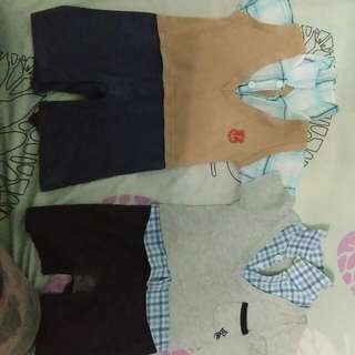 Two sets toddler boy apparel