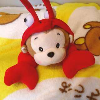 蝦猴 娃娃 玩偶 布偶 猴子