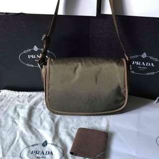 Prada Fabric Flap Messenger Bag BT0805