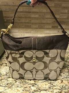 Authentic Coach Signature Hobo Handbag Purse