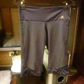 Adidas 運動褲,瑜珈褲,有彈性,尺寸L