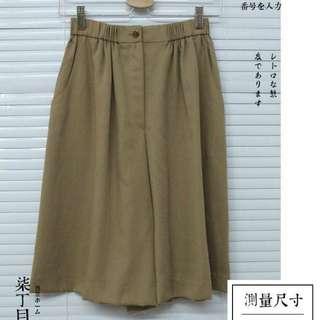 古著日系夏季好搭茶褐色短褲