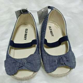 Brandnew Old Navy Chambray Peep-Toe Espadrilles