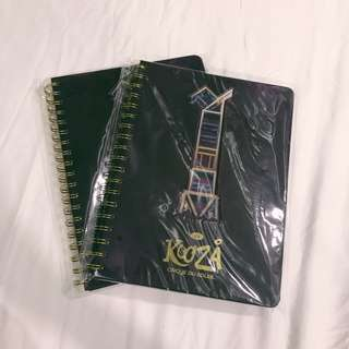 Cirque du soleil ring notebook