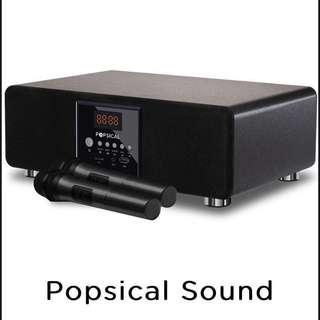 Popsical Sound: Integrated speaker and dual wireless microphone